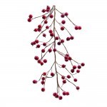 Guirlande de grandes baies rouges 130cm;