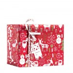 Papier cadeau Happy Santa rouge 0,70 x 50 m