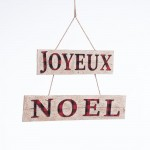 Suspension Joyeux Noel L 65 x H 41 cm